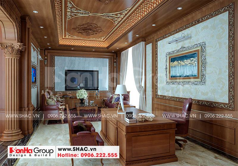 Thiết kế phòng làm việc Sang - Kho học của Sơn Hà Group