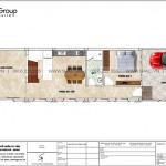 5 Mặt bằng tầng 1 nhà ống kiểu pháp đẹp tại hà nội sh nop 0203