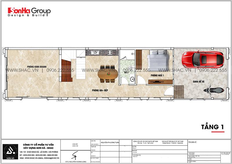 Mẫu nhà ống tân cổ điển 3 tầng 5,2x22,3m tại Hà Nội - SH NOP 0203 5