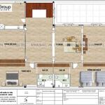 5 Mặt bằng tầng 3 biệt thự tân cổ điển sang trọng tại hải phòng sh btp 0149