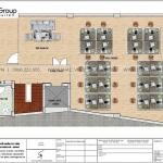 6 Bản vẽ lầu 1 và 2 tòa nhà văn phòng mặt tiền 9,1m tại sài gòn sh vp 0039