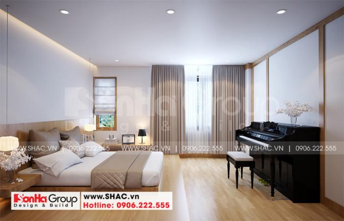 Mẫu phòng ngủ đẹp phong cách hiện đại có vệ sinh khép kín
