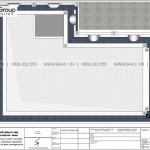 7 Mặt bằng tầng mái biệt thự tân cổ điển mặt tiền 15m tại hải phòng sh btp 0149