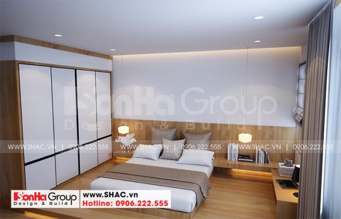 Thiết kế phòng ngủ hiện đại tinh tế đẹp mắt với bố trí khoa học