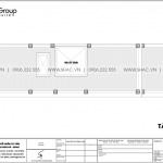 8 Bản vẽ tầng mái nhà ống cổ điển 4 phòng ngủ tại hà nội sh nop 0203