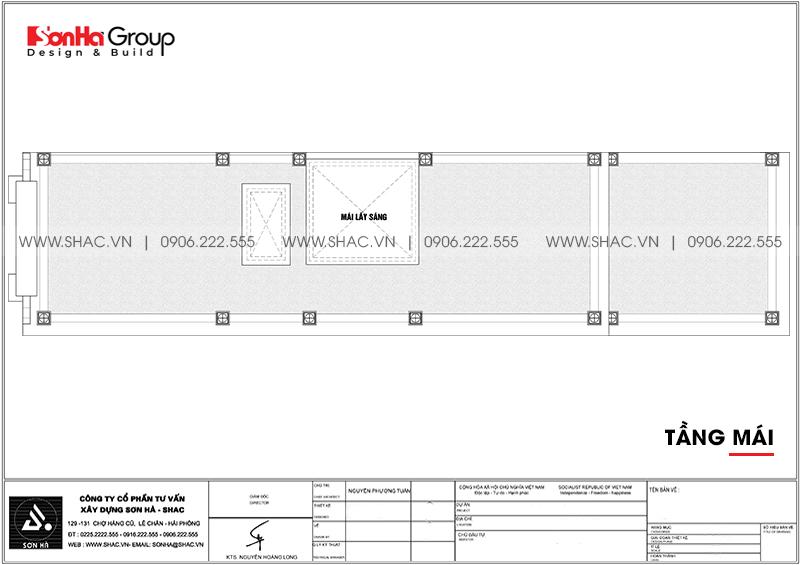 Mẫu nhà ống tân cổ điển 3 tầng 5,2x22,3m tại Hà Nội - SH NOP 0203 8