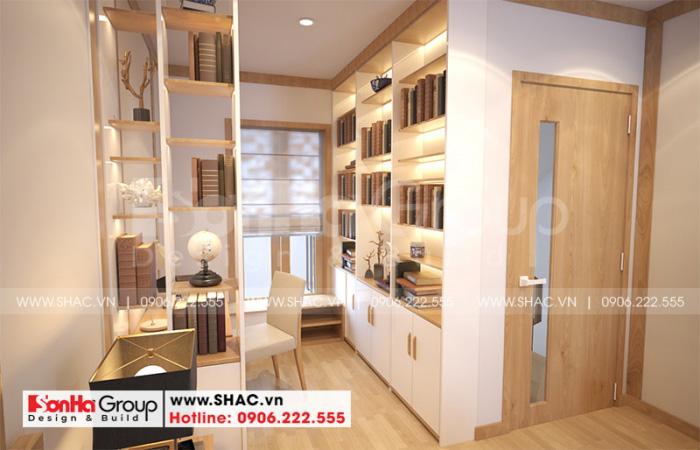 Khu vực thay đồ trong không gian phòng ngủ master của ngôi nhà