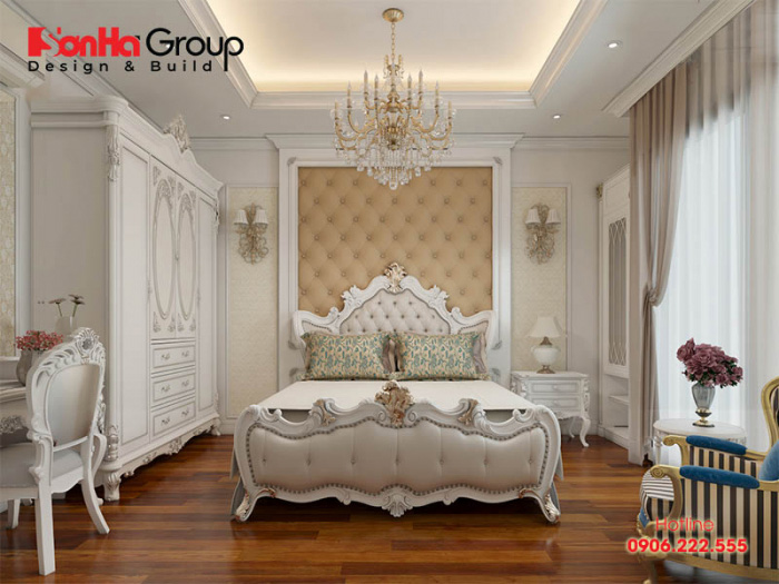 Hơn 50+ Mẫu phòng ngủ đẹp nhất dành riêng cho biệt thự tân cổ điển 1
