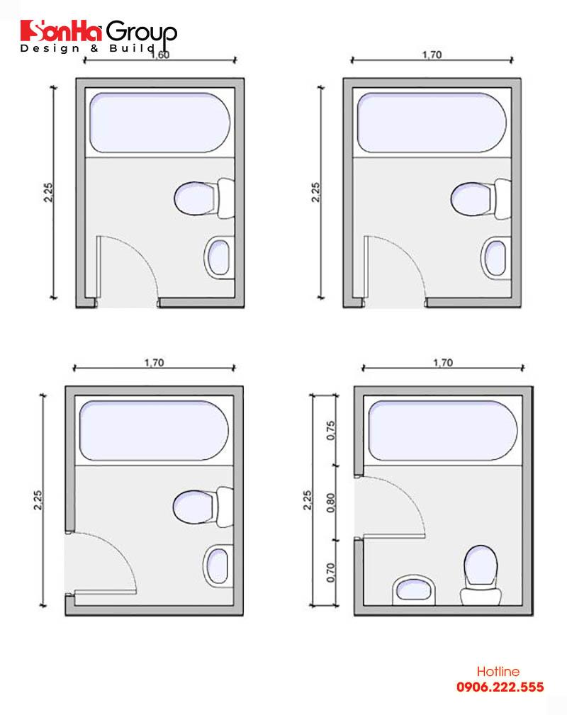 Bản vẽ nhà vệ sinh chuẩn phong thủy cho nhà có diện tích nhỏ