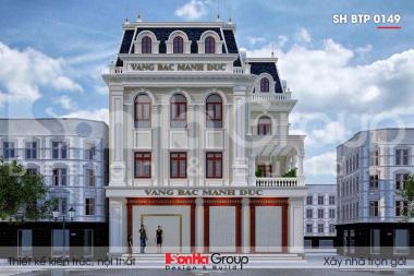BÌA thiết kế biệt thự tân cổ điển 3 tầng mặt tiền 15m tại hải phòng sh btp 0149