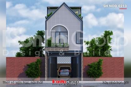 BÌA thiết kế nhà ống 3 tầng mặt tiền 3,86m kiểu hiện đại tại hải phòng sh nod 0213
