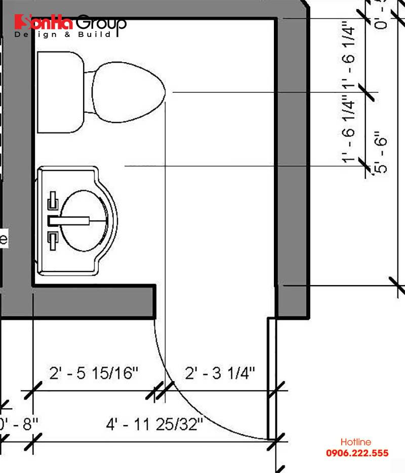 Cách bố trí nhà vệ sinh đơn giản nhưng đẹp và phong thủy