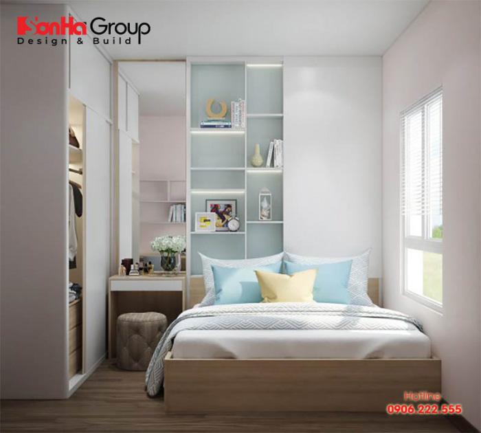 Căn phòng ngủ 6m2 có thiết kế nội thất lý tưởng và ngăn nắp dành cho những cô nàng cá tính