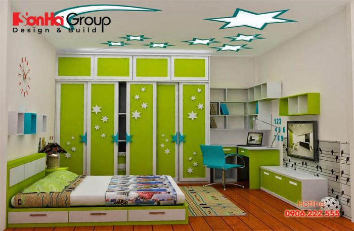 Còn đây là ý tưởng thiết kế phòng ngủ cho bé trai đang được yêu thích nhất hiện nay