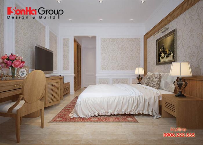 Đây sẽ là mẫu phòng ngủ tân cổ điển mang đến cho bạn một không gian phòng ngủ ấm cúng và sang trọng nhất