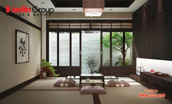 Điều đặc biệt tạo nên sức hút cho những căn phòng khách kiểu Nhật Bản chính là sự đơn giản và ngọt ngào
