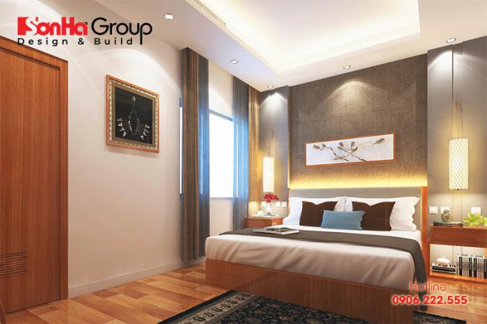 Gỗ luôn là vật liệu được ưu tiên sử dụng trong những không gian phòng ngủ khách sạn