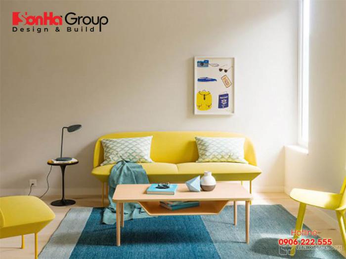 Mẫu phòng khách màu xanh dương độc đáo khiến bạn bị mê mẩn 7