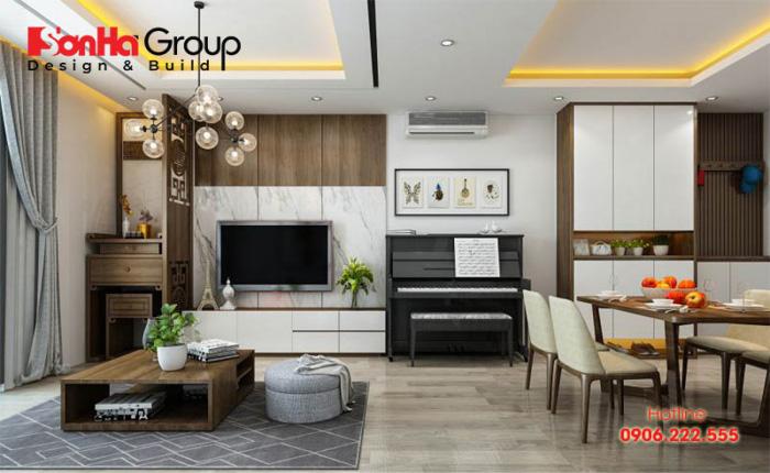 Mẫu phòng khách ngồi bệt thiết kế dành riêng cho nhà chung cư hiện đại