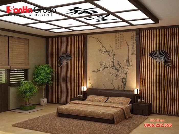 Mẫu phòng ngủ đẹp phong cách Nhật Bản hiện đại và tiện nghi