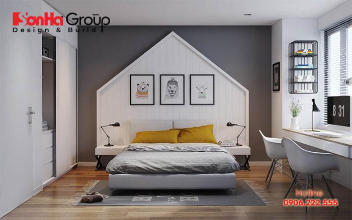 Mẫu phòng ngủ khép kín đẹp với nội thất hiện đại, hợp thời và sang trọng