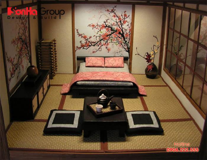 Mẫu phòng ngủ phong cách Nhật Bản đẹp thiết kế đón đầu xu hướng thịnh hành nhất shện nay