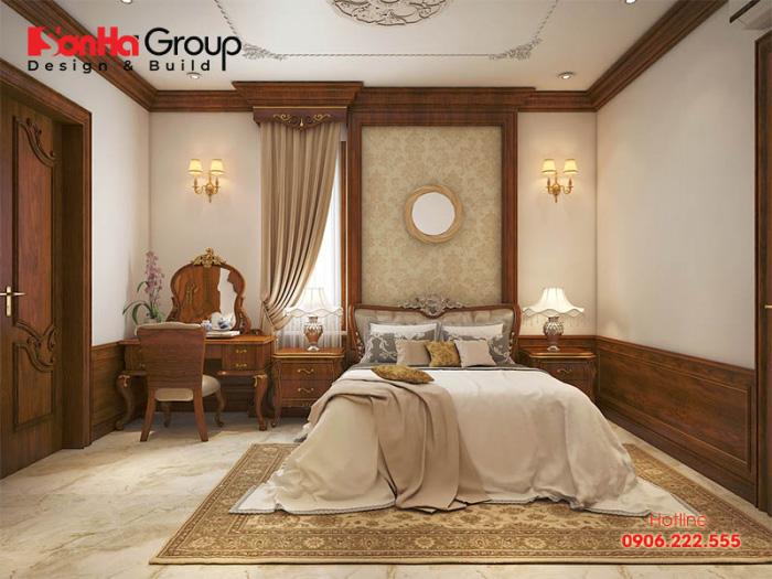 Mẫu phòng ngủ tân cổ điển có thiết kế nội thất đẹp, màu sắc độc đáo thể hiện cá tính riêng của gia chủ