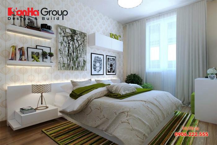 Mẫu thiết kế nội thất phòng ngủ master phong cách hiện đại thể hiện gu thẩm mỹ của chủ nhân căn phòng
