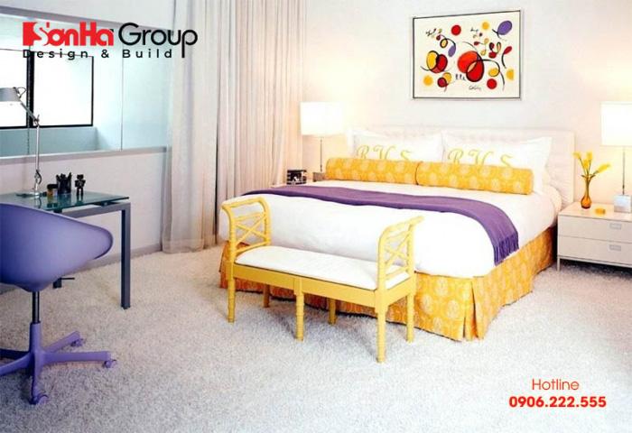 Mẫu thiết kế nội thất retro phòng ngủ hiện đại mang đến không gian riêng tư độc đáo