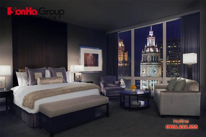 Mẫu thiết kế phòng ngủ khách sạn 5 sao đáp ứng đầy đủ các tiêu chuẩn khắt khe do Tổng cục du lịch ban hành