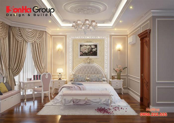 Cách trang trí phòng ngủ tân cổ điển đẹp với nội thất sang trọng mà không lo lỗi mốt