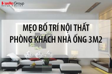 Mẹo bố trí nội thất cho không gian phòng khách nhà ống 3m thêm rộng rãi 2