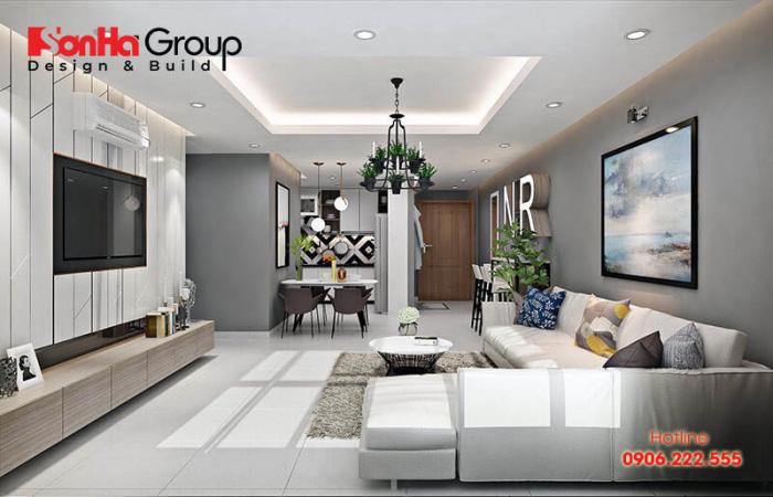 Phong cách thiết kế nội thất hiện đại cho căn phòng khách chung cư