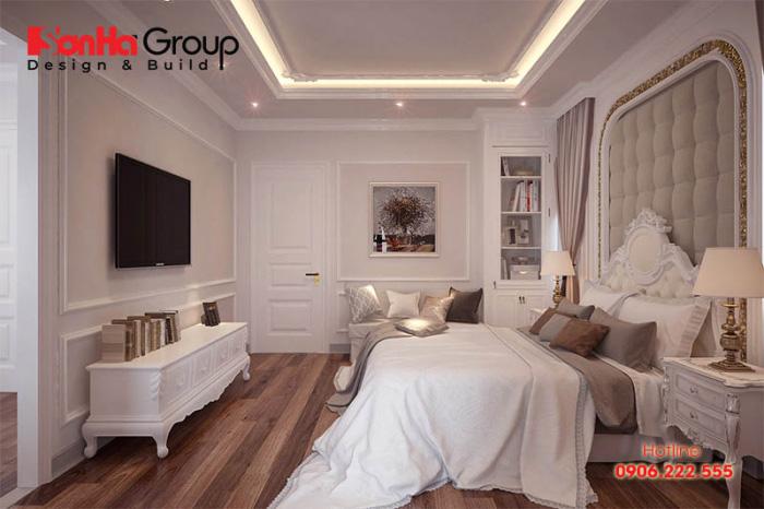 Phong cách thiết kế phòng ngủ tân cổ đẹp, sang trọng theo cá tính của chủ nhân căn phòng