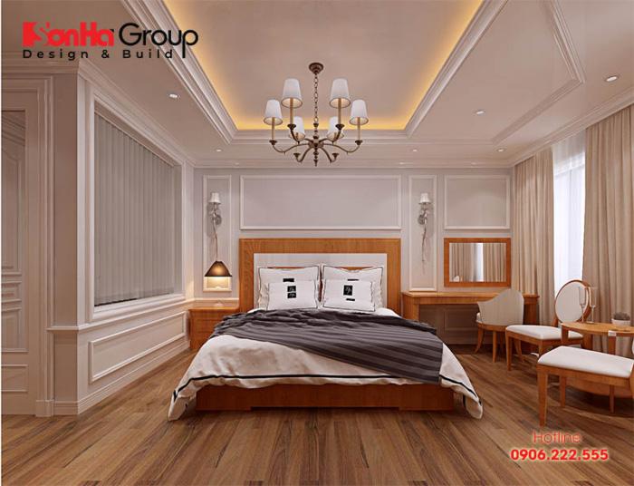 Phòng ngủ khách sạn đẹp 3 sao được trang trí ấn tượng bởi sự đơn giản và tinh tế