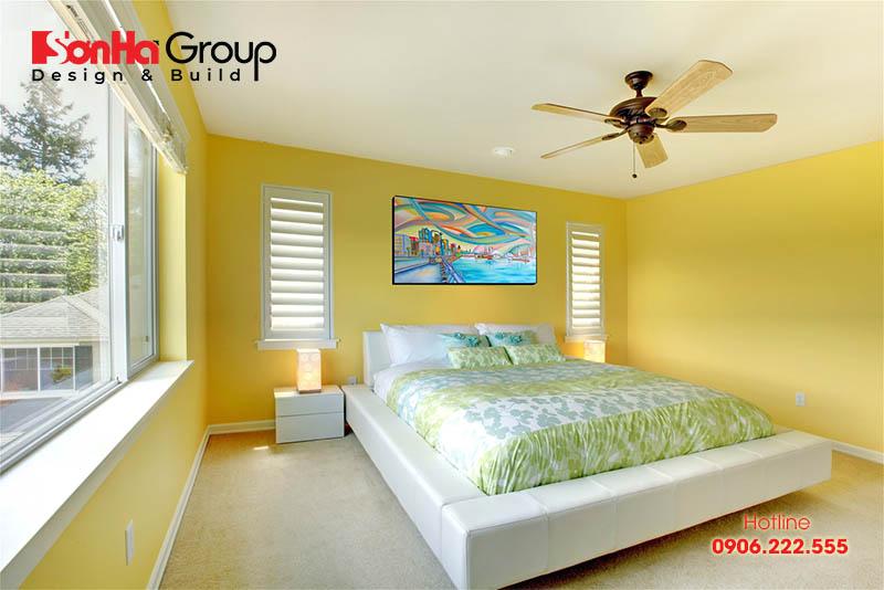 25 Mẫu Phòng Ngủ Với Tông Màu Vàng Sang Trọng