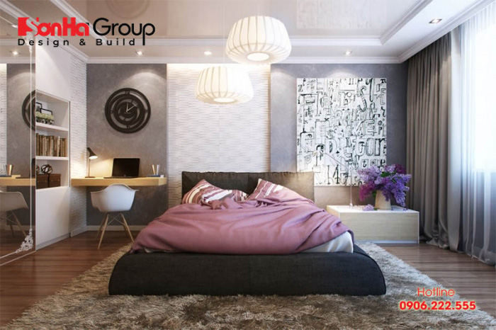 Phương án trang trí nội thất phòng ngủ hiện đại, độc đáo thể hiện cá tính riêng của gia chủ