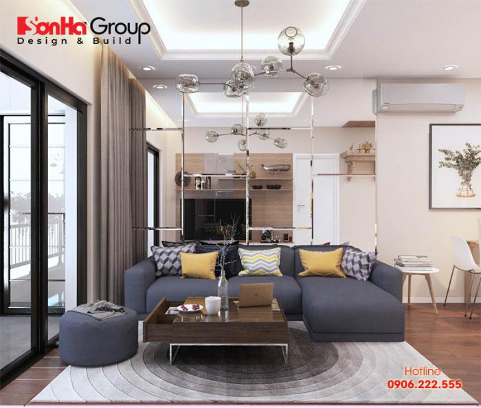Phương án trang trí phòng khách căn hộ chung cư hiện đại với màu sắc độc đáo được yêu thích nhất hiện nay