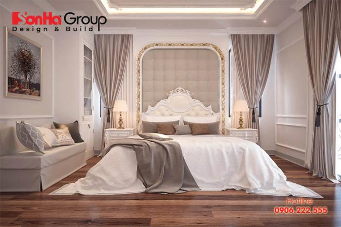 Say đắm trước thiết kế nội thất phòng ngủ tân cổ điển đẹp dành cho người lãng mạn