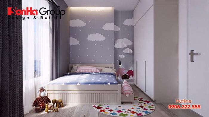 Thêm một mẫu thiết kế nội thất phòng ngủ nhỏ hiện đại với kiểu dáng giường, tủ quần áo gọn gàng, vật dụng sinh hoạt đa năng
