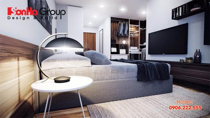 Thêm một phương án thiết kế phòng ngủ có vệ sinh khép kín phong cách hiện đại