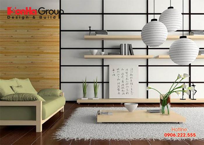 Thêm một ý tưởng trang trí phòng khách ngồi bệt theo phong cách Nhật Bản đẹp