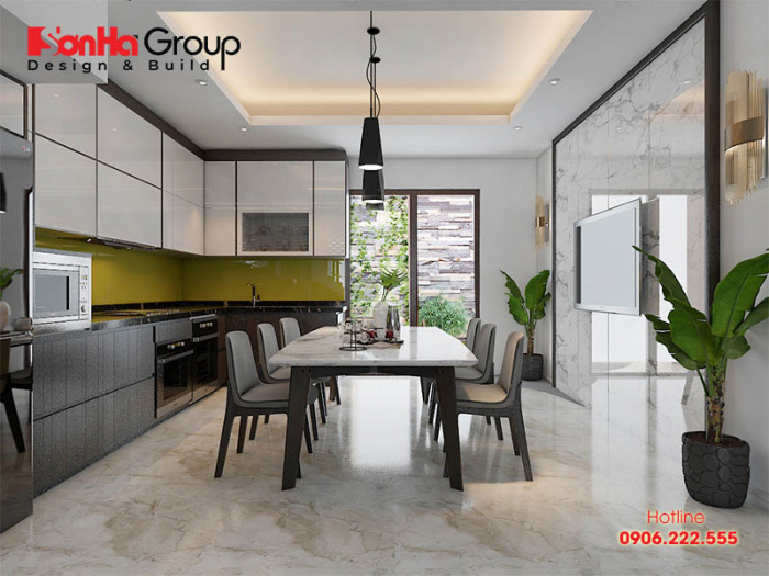 Thiết kế bếp hướng ngoại với nội thất hiện đại được ưa chuộng nhất hiện nay