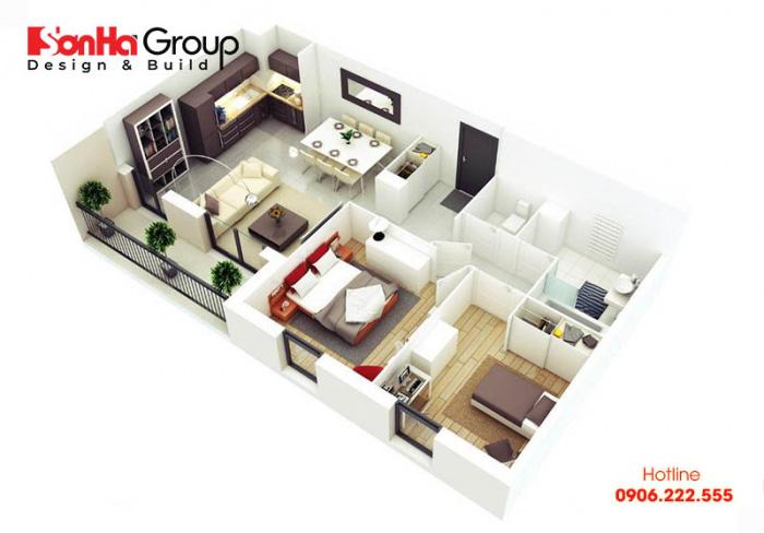 Thiết kế nội thất chung cư 2 phòng ngủ cũng cần xác định được phong cách mà chủ nhân hướng đến