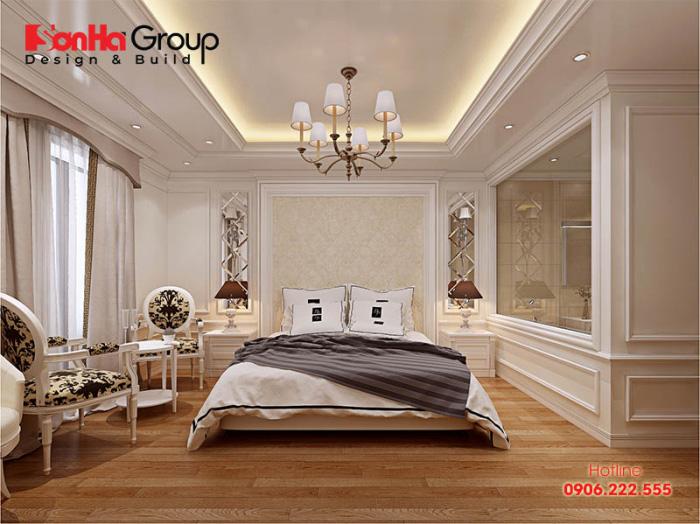 Thiết kế nội thất phòng ngủ khách sạn 3 sao kiểu tân cổ điển đẹp và sang cuốn hút mọi ánh nhìn