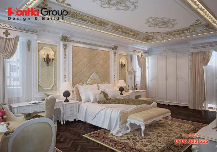 Thiết kế nội thất phòng ngủ mang phong cách tân cổ điển đẹp nhất xu hướng