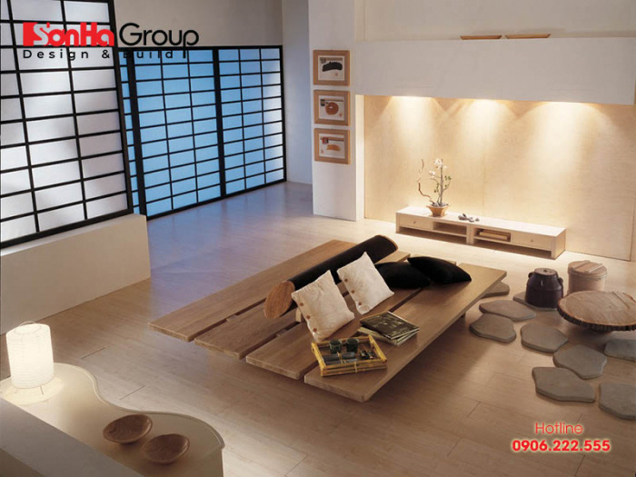 Thiết kế phòng khách ngồi bệt độc đáo mang đến sự mới lạ cho ngôi nhà của bạn