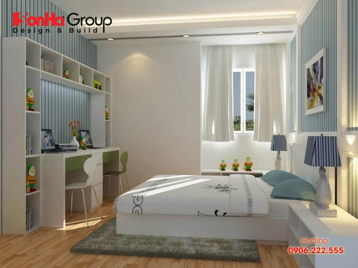 Thiết kế phòng ngủ 6m2 đẹp, hiện đại với nội thất đơn giản