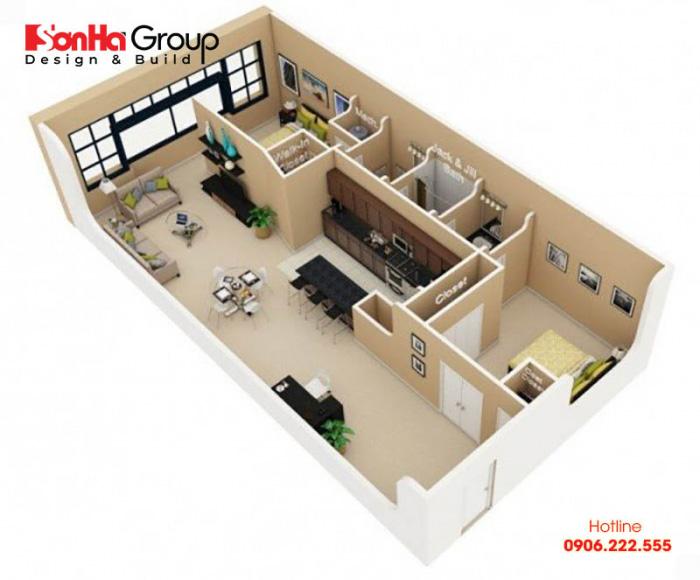 Thiết kế phòng ngủ chung cư tạo nên sự thoải mái, thư giãn cho người ở