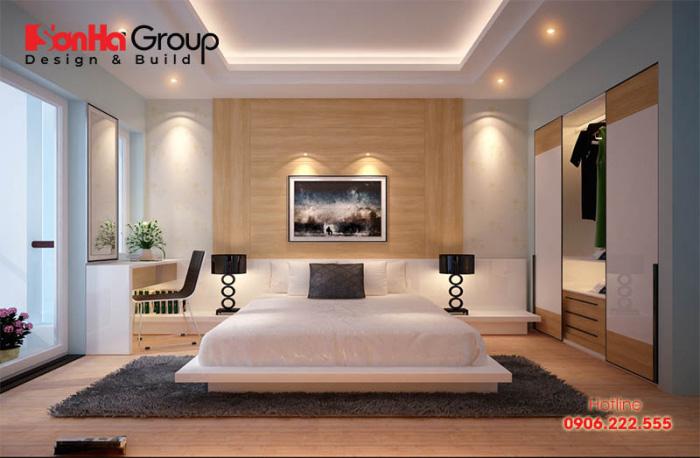 Thiết kế phòng ngủ khách sạn 3 sao không quá cầu kỳ nhưng vẫn tạo cảm giác ấm cúng, thân thuộc cho du khách
